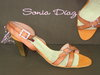 92561320 ORANGE LEATHER SANDAL, INSOLE LEATHER HEEL 8 CM