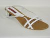 87171201 WHITE LEATHER SANDAL, INSOLE LEATHER, SHORT HEEL 3,50 CM, only sizes 35