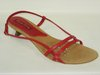 87171212 RED LEATHER SANDAL, LEATHER TEMPLATE, LOW HEEL 4 CM