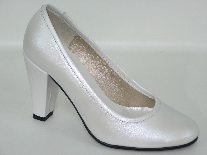 88179001 WEDDING SHOES, WHITE LEATHER
